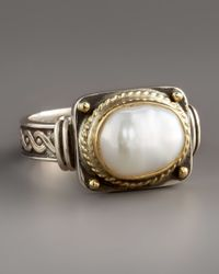 Konstantino - White Pearl Ring - Lyst