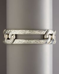 Konstantino - Metallic Etched Cuff for Men - Lyst
