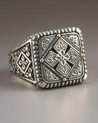 Konstantino | Metallic Maltese Cross Ring for Men | Lyst