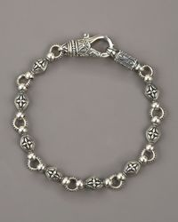 Konstantino | Metallic Paganini Cross Chain Bracelet for Men | Lyst