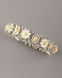 Konstantino - Metallic Carved Floral Bracelet, Small - Lyst