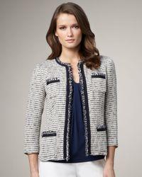 Lafayette 148 New York | White Three-quarter-sleeve Palermo Jacket | Lyst