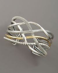Lagos | Metallic Unlaced Mixed Metal Cuff | Lyst
