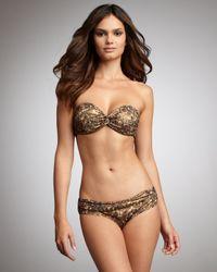 Lanvin | Metallic Rhinestone-print Two-piece Bikini | Lyst