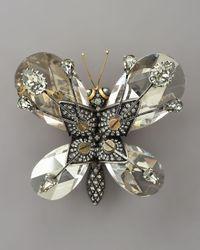 Lanvin | Multicolor Butterfly Brooch | Lyst
