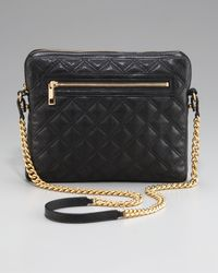 Marc Jacobs   Black Quilted Crossbody Ipad Case   Lyst