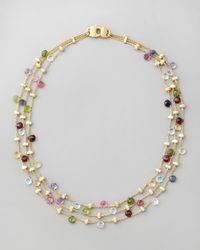 Marco Bicego | Multicolor Paradise Multi-strand Necklace | Lyst