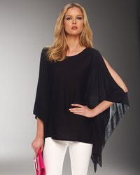 Michael Kors | Black Cold-shoulder Poncho | Lyst