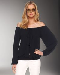 Michael Kors | Black Off-the-shoulder Jersey Top | Lyst