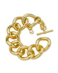 Michael Kors - Metallic Link Bracelet, Golden - Lyst