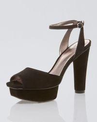Pelle Moda | Black Ummy Suede Platform Sandal | Lyst
