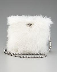 Prada | White Eco Pelliccia Faux Fur Satchel | Lyst