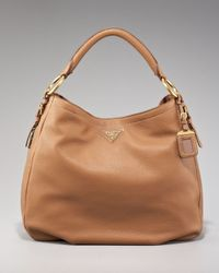 Prada | Brown Cervo Hobo | Lyst