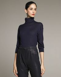 Ralph Lauren Collection | Blue Cashmere-silk Turtleneck | Lyst