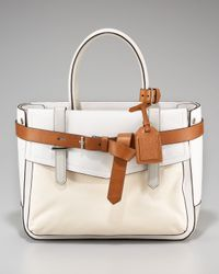Reed Krakoff | White Boxer Leather-detailed Canvas Tote | Lyst