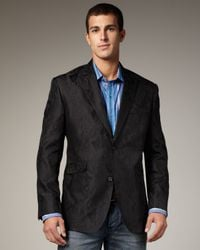 Robert Graham | Black Crillon Jacquard Sport Coat for Men | Lyst
