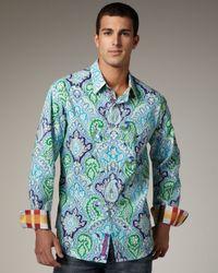 Robert Graham | Multicolor Navel Paisley Sport Shirt for Men | Lyst