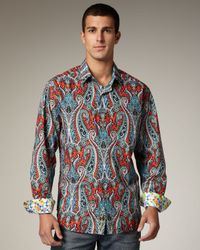 Robert Graham | Red Flamenco Paisley Sport Shirt for Men | Lyst