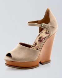 Sam Edelman | Natural Javi Suede Platform Wedge | Lyst