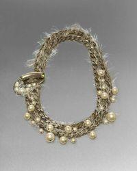 St. John | Metallic Beaded Eyelashtrim Chain Necklace | Lyst