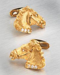 Stefano Ricci | Metallic Horse Cufflinks for Men | Lyst