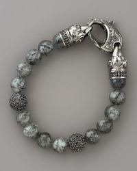 Stephen Webster | Metallic Rutilated Quartz Skull Bracelet for Men | Lyst