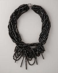 Vera Wang - Black Multi-strand Bead Necklace - Lyst