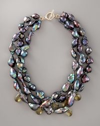 Wendy Brigode - Black Baroque Pearl Necklace - Lyst