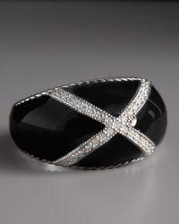 Zasha - Black Diamond Enamel Ring - Lyst