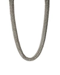 ASOS - Metallic Asos Premium Chainmail Mesh Tube Necklace - Lyst