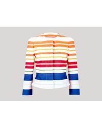 Stella McCartney - Multicolor Noemie Bonded Deckchair Jacket - Lyst