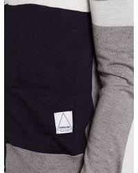 General Idea | Blue General Idea Mens Contrast Cardigan for Men | Lyst