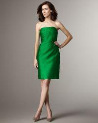 kate spade new york - Green Darcie Strapless Dress - Lyst