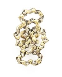 Anndra Neen - Metallic Four Part Melted Ring - Lyst
