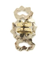 Anndra Neen | Metallic Four Part Melted Ring | Lyst