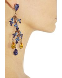 Bijoux Heart - Metallic Bali 24karat Goldplated Swarovski Crystal Earrings - Lyst