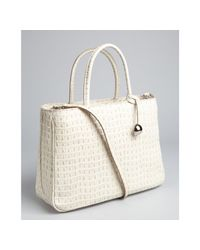 Furla - White Cocco Lizard Stamped Leather Practica Bag - Lyst