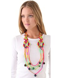 Sequence - Multicolor Bone Necklace - Lyst
