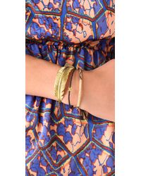 Tai - Blue Woven Gold Bar Charm Bracelet - Lyst