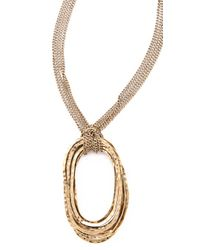 Citrine by the Stones - Metallic Large Wire Pendant Necklace - Lyst