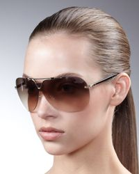Dior | Black 57th Rimless Aviators | Lyst