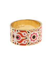 kate spade new york - Metallic Idiom Bangles Carry A Torch - Lyst
