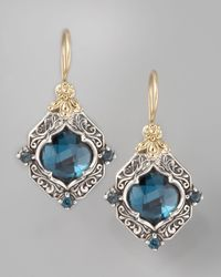 Konstantino | London Blue Topaz Drop Earrings | Lyst