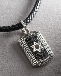 John Hardy | Black Pure Lavafire Star Of David Dog Tag for Men | Lyst