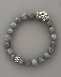 King Baby Studio | Metallic Labradorite Bead Bracelet for Men | Lyst