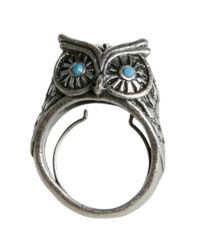 Lucky Brand | Metallic Silver Tone Owl Ring | Lyst