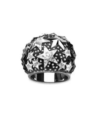 Swarovski | Metallic Crystal Star Dome Ring | Lyst