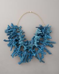 Devon Leigh | Three-strand Blue Coral Necklace | Lyst