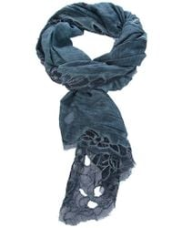 Faliero Sarti | Blue Embroidered Scarf | Lyst