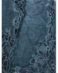 Faliero Sarti - Blue Embroidered Scarf - Lyst